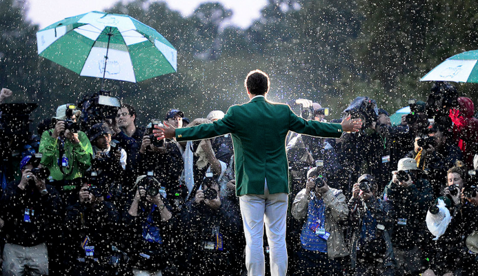 What was in the bag for Adam Scott during his 2013 Masters win?