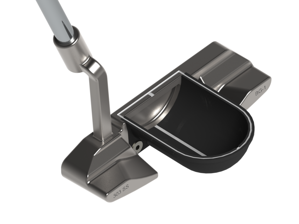 BG-1 Putter with Black Half-Pipe Alignment System