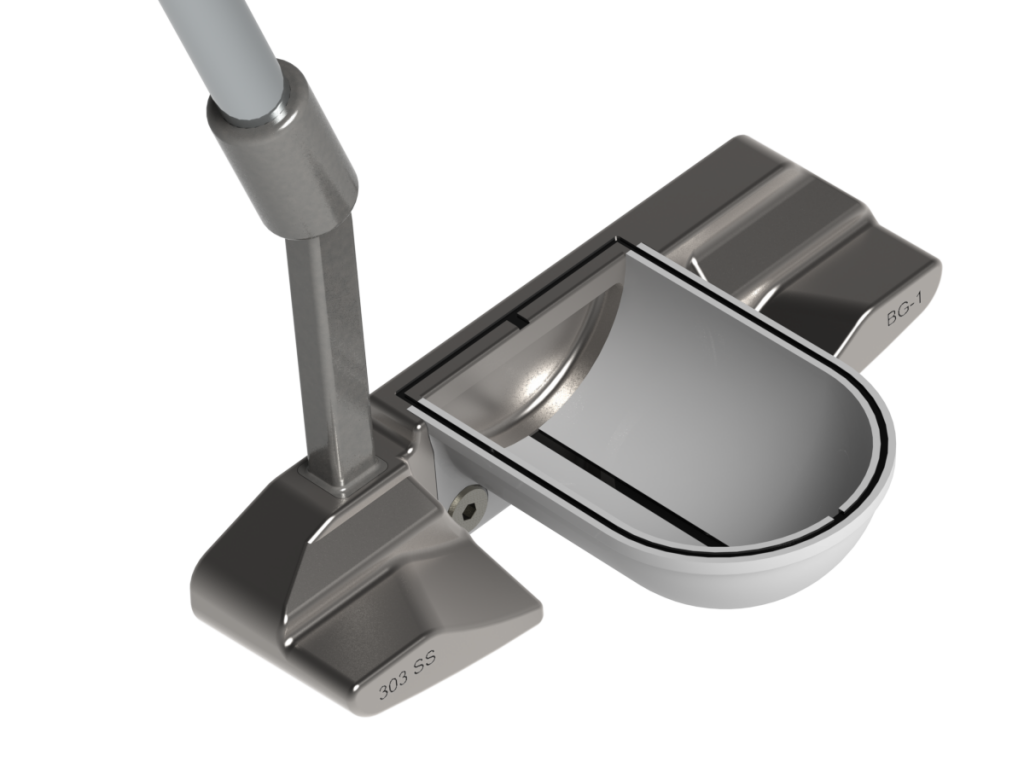 BG-1 Putter with White Half-Pipe Alignment System