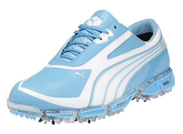 Puma AMP Cell Fusions in baby blue and white
