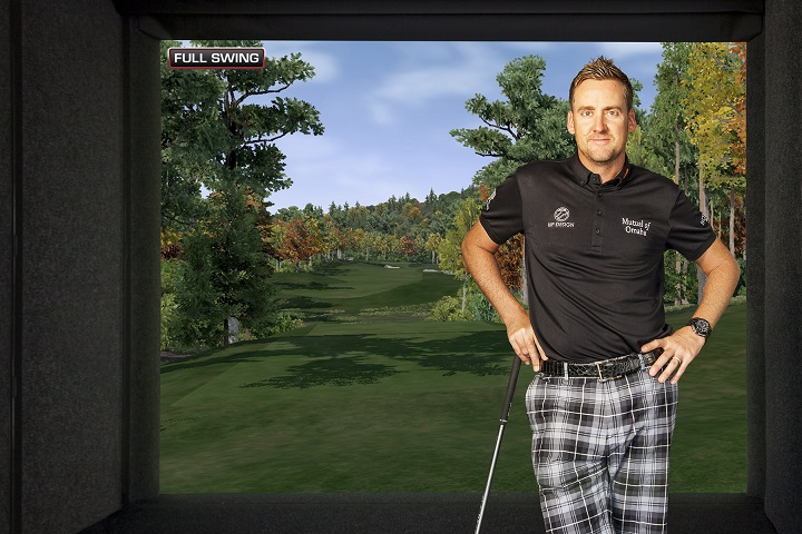 Ian Poulter and the Full Swing Golf Champion Series Simulator