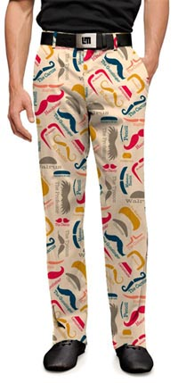 Loudmouth Mustache Golf Pants for Men