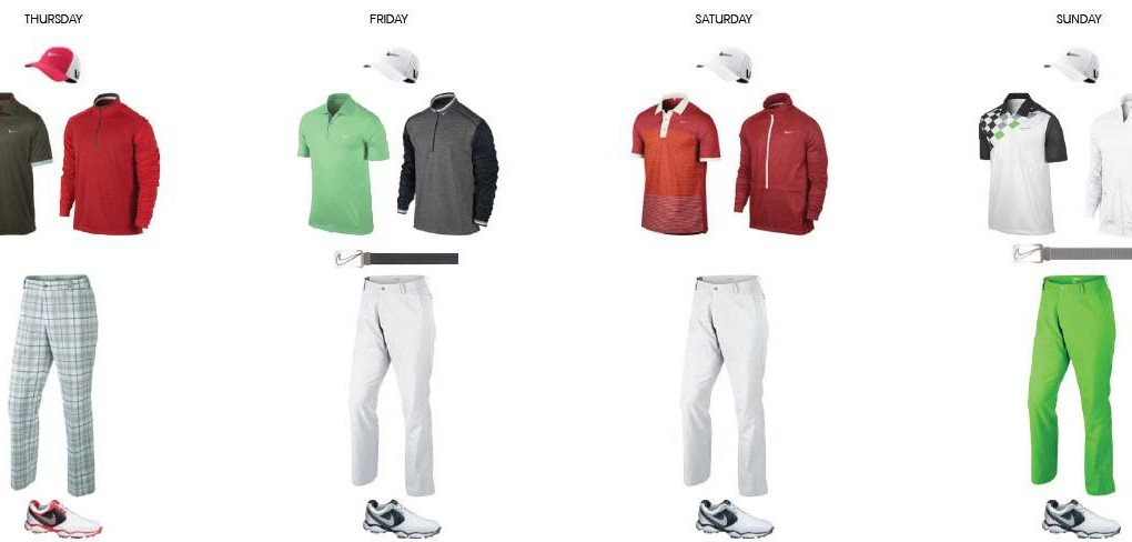 Rory McIlroy's apparel script for the 2013 BMW PGA Championship