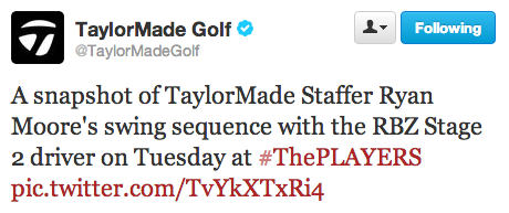 TaylorMade Tweets Ryan Moore's swing sequence