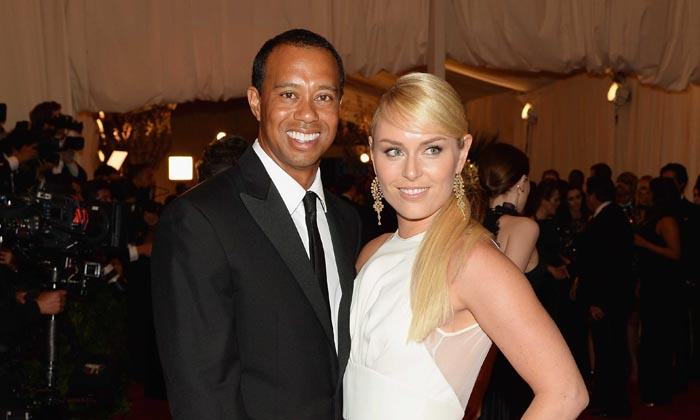 Tiger Woods and Lindsey Vonn at the MET Gala