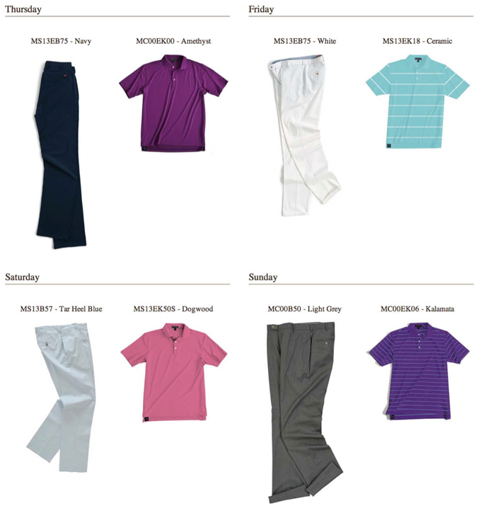 Branden Grace's U.S. Open apparel script from Peter Millar