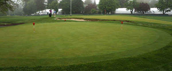 Practice putting green at Merion