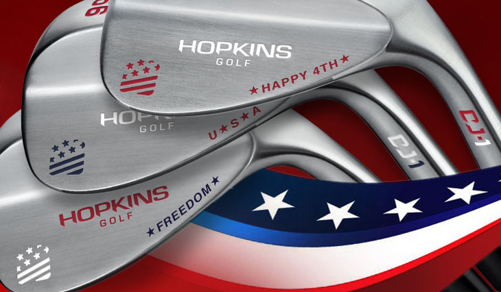 Hopkins Golf Celebrating July 4th with free wedge customization!