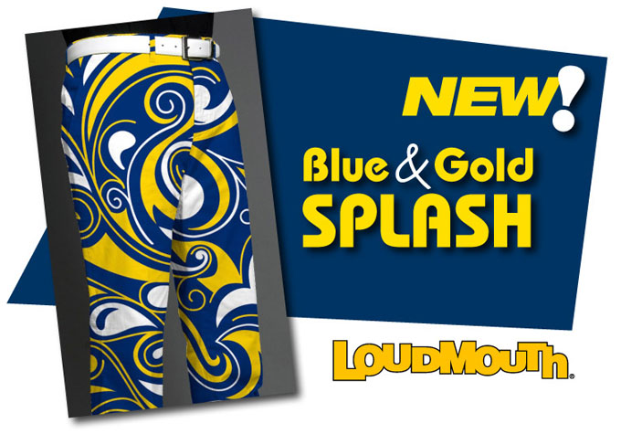Loudmouth 'Blue & Gold Splash' Design