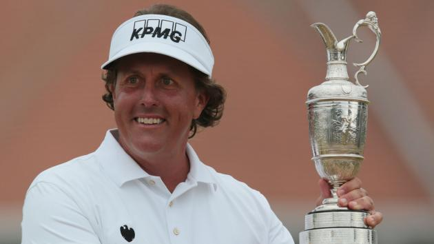 Phil Mickelson's winning bag from the 2013 British Open