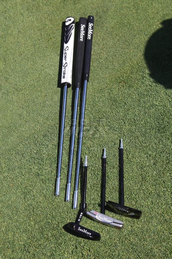 Different shafts, grips and putter heads. Changing them up is easy!