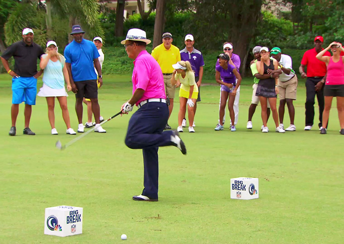 Video: Chi Chi Rodriguez takes one in the Chi Chi's