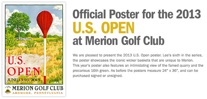 Justin Rose signs Merion posters for charity