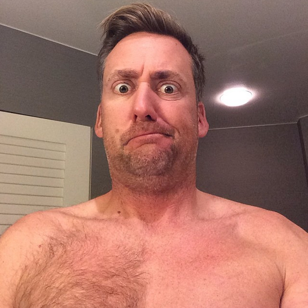 Ian Poulter goes topless on Instagram