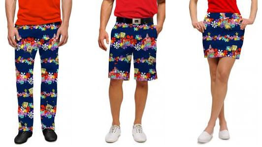 SpongeBob SquarePants pants, shorts and skirts from Loudmouth
