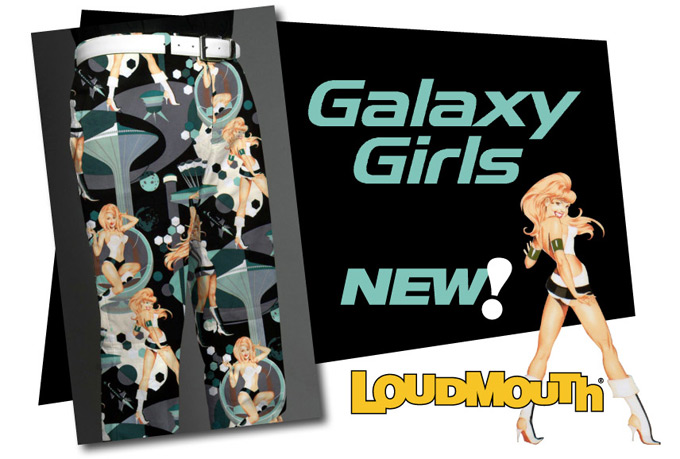Galaxy Girl pants and shorts from Loudmouth