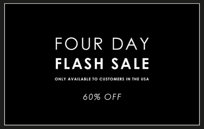 Four Day IJP Design Flash Sale on now!